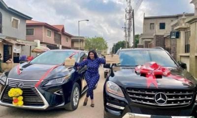 Actress Biodun Okeowo buys a car, gets another as a gift