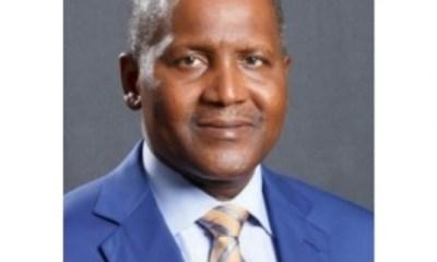 Dangote, only Nigerian onBloomberg's top Billionaires' lists