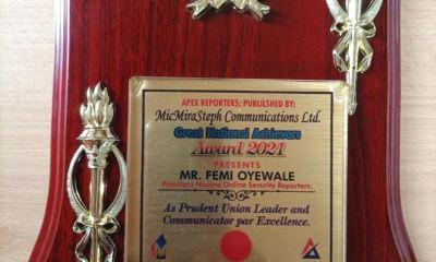 NAOSRE President, Femi Oyewale, Publisher Of Sahara Weekly Magazine, Bags Leadership Award
