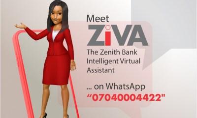 ZENITH BANK LAUNCHES ZIVA WHATSAPP BANKING