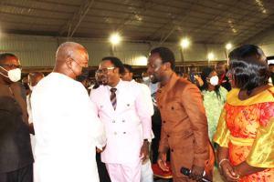 Ghana's Ex-president Eulogise Joshua Iginla At Volta Region Invasion In Ghana For Christ