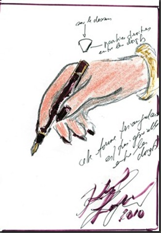 A-sketch-of-a-pen-for-ST-Dupont-by-Karl-Lagerfeld