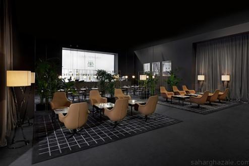 Cafè-Trussardi-Cip-Cip-armchair-Band-Breccia-table-Spiga-lamp-