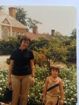Mom and me at Mt Vernon