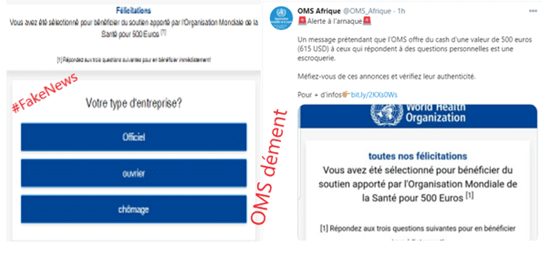 #FactCheck : non, l'OMS n'offre pas 500 euros gracieusement