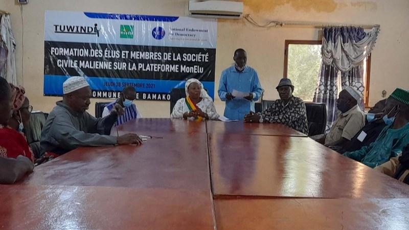 Bamako. Des élus et membres de la société civile formés sur l'utilisation de la plateforme #MonElu