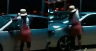Watch Lady caught smashing boyfriend's car over cheating