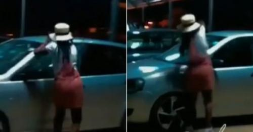 Watch Lady caught smashing boyfriend's car over cheating