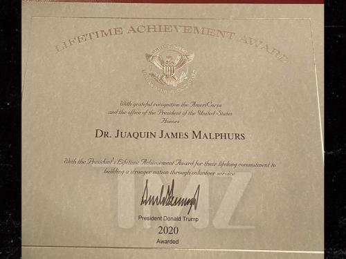 Waka Flocka Flame Receives Lifetime Achievement Award from Donald Trump