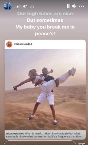 Khanyi Mbau dumps darling, Kudzai in Dubai –