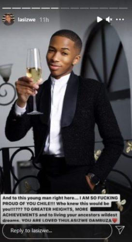 Lasizwe praises significant achievement