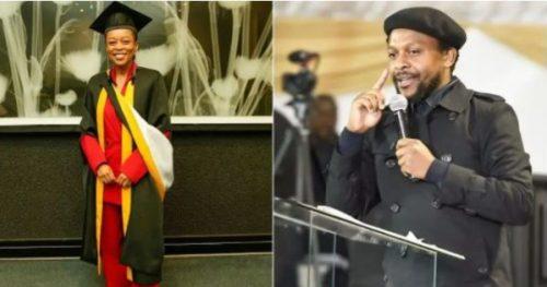 Mbuyiseni Ndlozi salutes darling, Mmabatho Montsho on her scholastic accomplishment