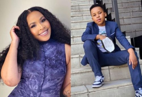 Awesome! Brown Mbombo praises child's birthday
