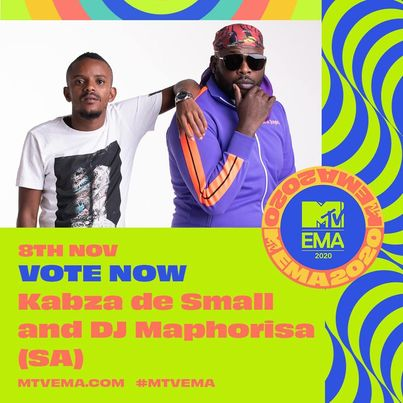 Master KG, Kabza De Small & DJ Maphorisa Get 2020 MTV EMA Nominations