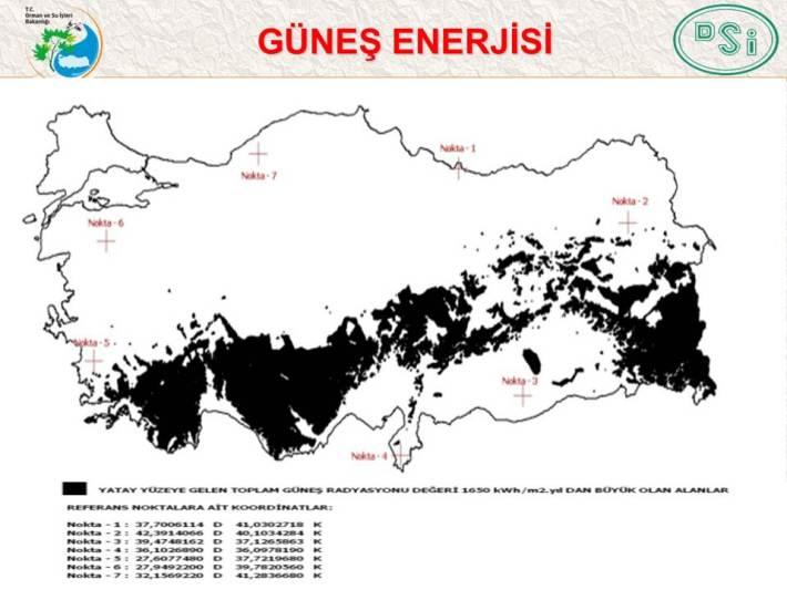 turkiye gunes enerjisi haritasi