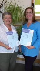 Donna & Lucy senior accreditation June 16