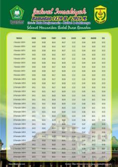 Jadwal Imsakiyah 1439 Ramadan 2018 - Banjarmasin Kalimantan Selatan