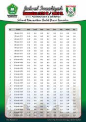 Jadwal Imsakiyah 1439 Ramadan 2018 - Kabu Banyuasin SUMSEL