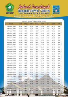 Jadwal Imsakiyah 1439 Ramadan 2018 - Kabupaten Sleman DIY