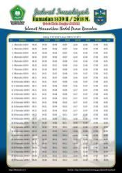 Jadwal Imsakiyah 1439 Ramadan 2018 - Kota Banjar JABAR