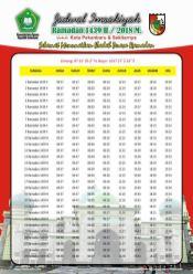 Jadwal Imsakiyah 1439 Ramadan 2018 - Kota Pekanbaru Riau