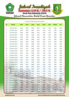 Jadwal Imsakiyah 1439 Ramadan 2018 - Kota Sukabumi