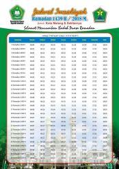 Jadwal Imsakiyah 1439 Ramadan 2018 - Malang Jawa Timur