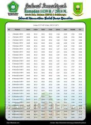 Jadwal Imsakiyah 1439 Ramadan 2018 - Natuna KEPRI