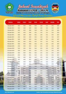Jadwal Imsakiyah 1439 Ramadan 2018 - Purwakarta Jawa Barat