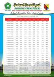 Jadwal Imsyakiyah Ramadan 2018 - Kabupaten Bandung Jawa Barat