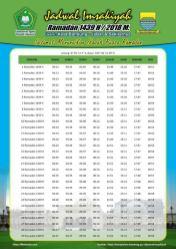 Jadwal Imsyakiyah Ramadan 2018 - Kota Bandung Jawa Barat