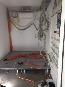 Serveraum und Elektroverteilung