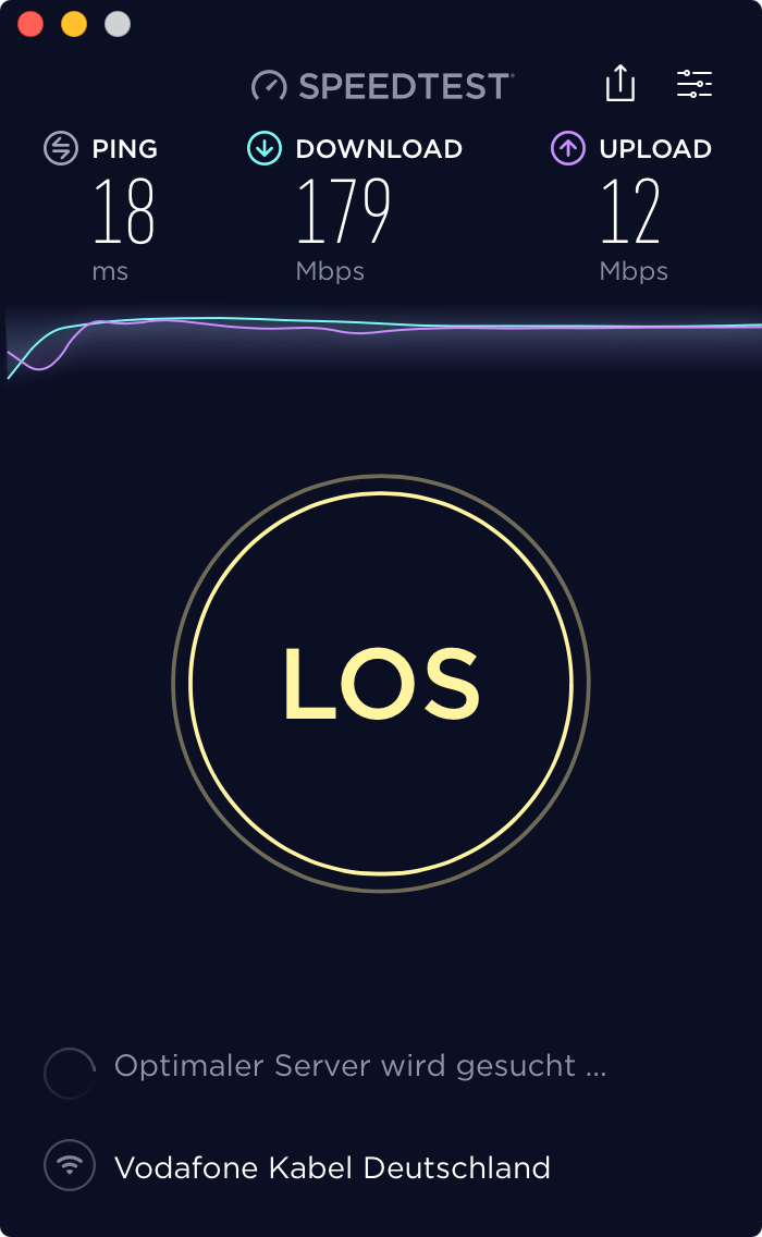 Speedtest Devolo1750c