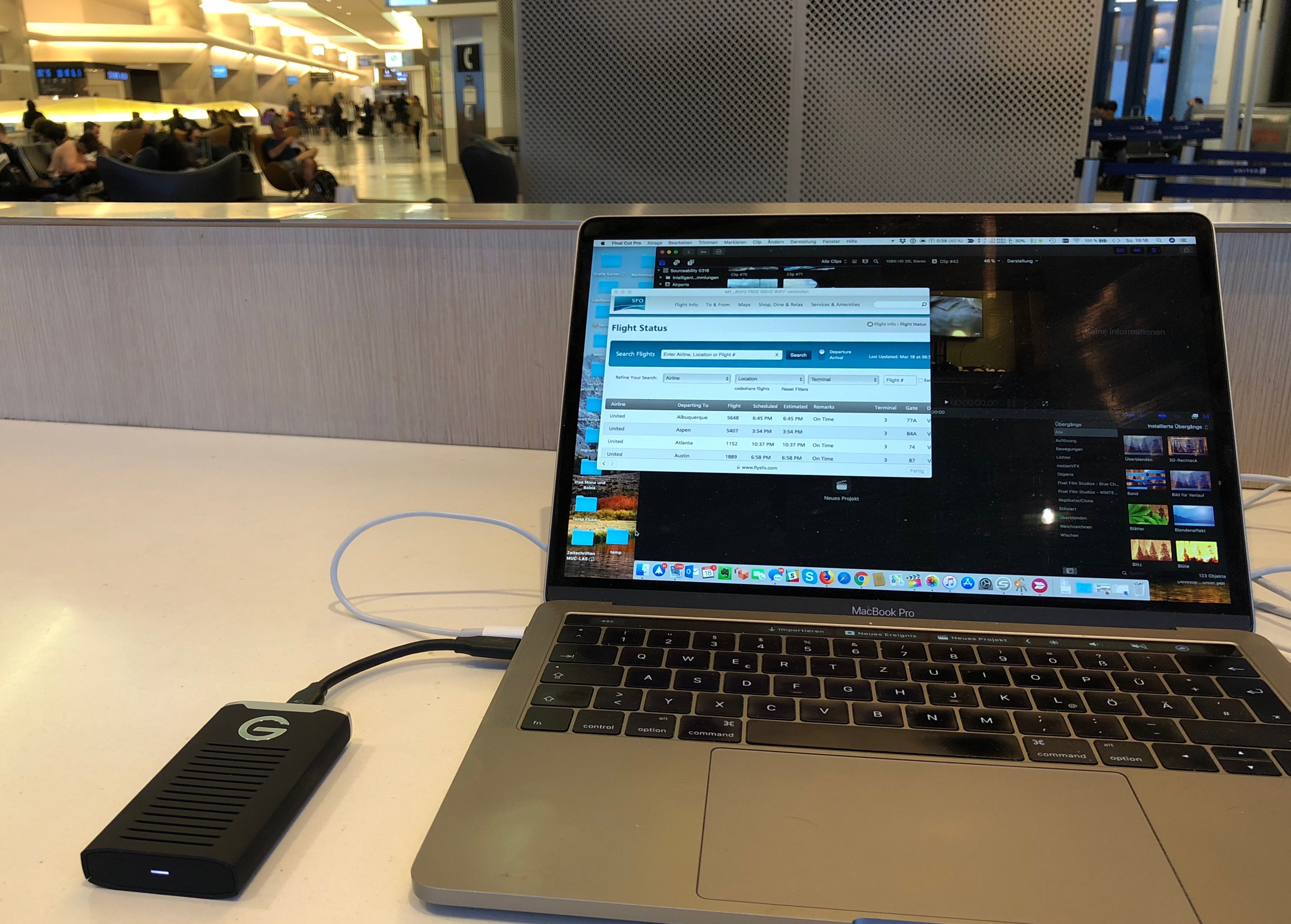 G-Drive mobile SSD on MacBook Pro