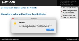 Warnung_und_Secure_Email_Certificates_-_Application