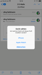 iOS Zertifikat importieren