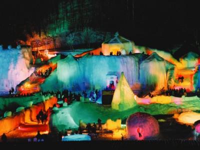 層雲峡氷ばく祭り