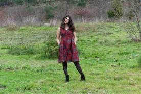vestido vermello