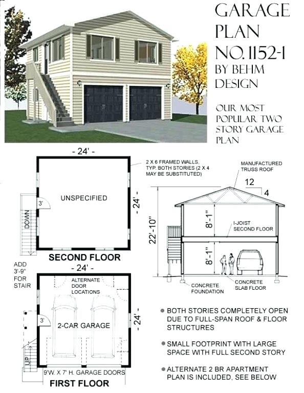 Garage Plans With Apartment Above Said