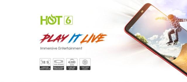Infinix Hot 6 jumia kenya X606D BG couple 16GB ROM 1GB RAM 13MP 8MP Dual Camera android 81 oreo android 81 oreo jumia kenya