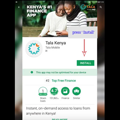 how to download tala kenya app tala loan application install tala kenya loan app