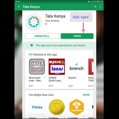 how to download tala kenya app tala loan application open tala Kenya app