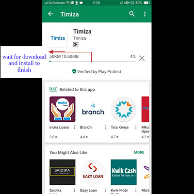 how to download timiza app timiza loan application download install