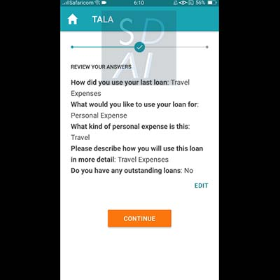 tala loan apply for tala loan tala application form question how did you use your last loan review answer
