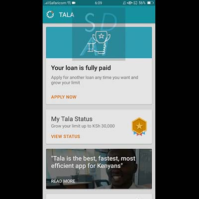 tala loan apply for tala loan tala application form select apply now or view status