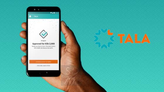 Tala loan application form that you use to apply for a tala loan