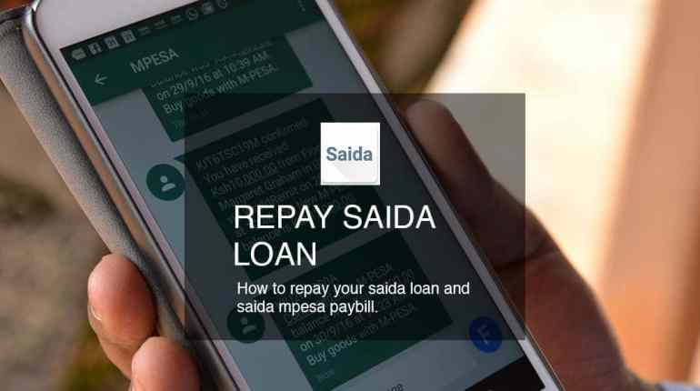 repay saida loan mpesa paybill no