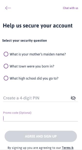 select your security question zenka registration