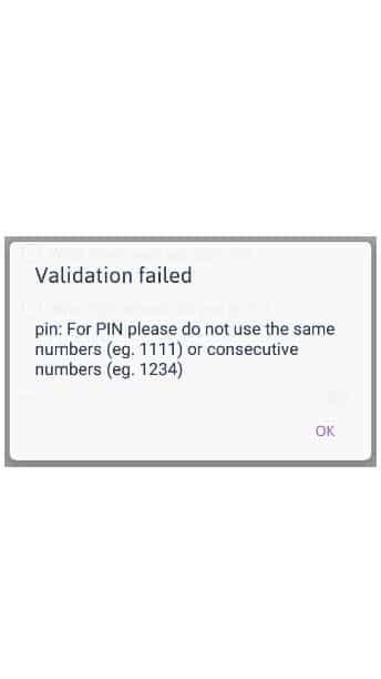 validation failed zenka registration