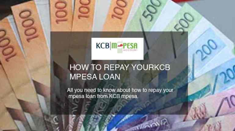 how to pay KCB mpesa loan